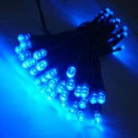 Solar 60 Blue LED Light String NEW MULTI EFFECT